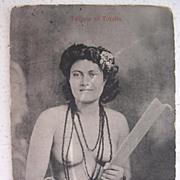 RARE Samoan Princess Postcard 'Taupou of Tutuila'