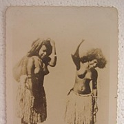 World War Two Photograph of Two Topless PNG Native Women