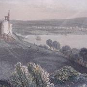 Victorian Hand Coloured Steel Engraving 'PLYMOUTH - DEVON' Circa 1840