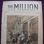 Front Page From THE MILLION Newspaper 'Easter Offerings In Olden Time' April 1892