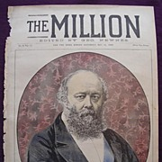 1892 Front Cover THE MILLION Newspaper 'Lord Salisbury'
