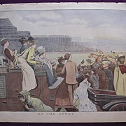 1892 Full Colour Page From THE MILLION Newspaper At The DERBY'