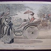 1892 Full Page From THE MILLION 'In Rotten Row. Hyde Park'