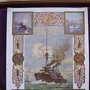 Coronation Of King George V & Queen Mary - Plate V111 The Finest Coronation Year Battleship, A