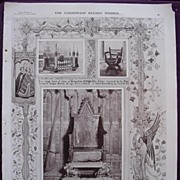 Coronation Of King George V & Queen Mary - Plate X1V The Coronation Seats Of Rulers Of England