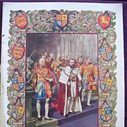 Coronation Of King George V & Queen Mary - Plate X1X  A Most Picturesque Feature Of The Corona