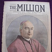1898 Front Cover THE MILLION Newspaper 'Dr. Vaughan, Archbishop Of Westminster'