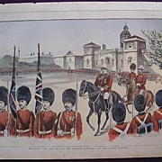 1898 Full Page THE MILLION Newspaper ' Trooping The Colours On The Queen's Birthday At The Hor