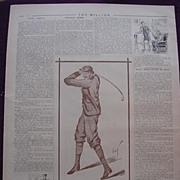 "A Page From THE MILLION Newspaper 1898 ""Mr. Golfour"""