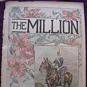 1892 Front Cover From THE MILLION Newspaper 'Types Of The British Army -Trooper 6th Dragoon Gu