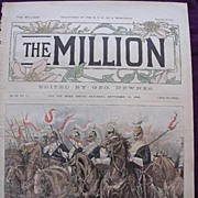1892 Front Cover From THE MILLION Newspaper 'HALT! Scene In The Long Valley, Aldershot, During