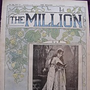 1892 Front Cover THE MILLION Newspaper  'Miss Vanbrugh, as Queen Anne Boleyn in Henry V111'