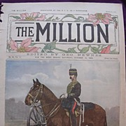 SOLD 1892 Front Cover From THE MILLION Newspaper ' Types Of The British Army. Sergeant-Major,