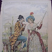 1892 Full Page From THE MILLION  Newspaper  'Caught'