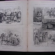 ' Sketches In St. Petersburg' From The Illustrated London News April 1881