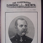 'Czar Alexander 11' Front Cover The Illustrated London News March 19th 1881