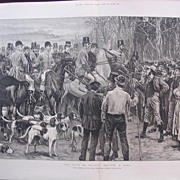 'The State Of Ireland: Stopping A Hunt' - London Illustrated News Dec.24 1881
