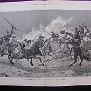 'The War In TUNIS: Attack Of Arab Cavalry On A French Square' - Illustrated London News Nov. 2