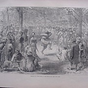 SOLD 'SEEPEE FAIR, Near Simla, In The Himalayas' - Illustrated London News Nov. 12 1881