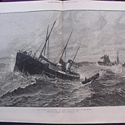 'Loss Of The CLAN MACDUFF: Boat From The UPUPA Going To The Rescue' - Illustrated London News