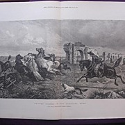 'Driving Horses In The Campagna, ROME' - Illustrated London News Oct. 29 1881