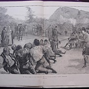 'The Royal Family In The Highlands: The Tug Of War - Balmoral Against Abergeldie' - Illustrate