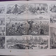 'AMERICAN COTTON: Its Cultivation And Preparation In Mississippi' - Illustrated London News Se