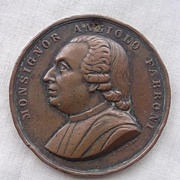 Angiolo FABRONI Old Large Copper Medallion Circa 1850