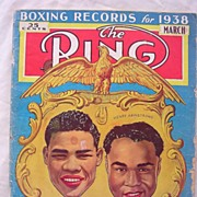 RARE Vintage 'The RING' Magazine Vol. XV111 March 1938
