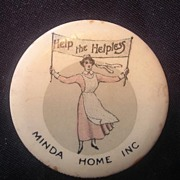 RARE Australian World War One Pinback Badge 'Nursing Appeal'