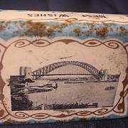 Old Sydney Harbour Bridge Souvenir Matchbox Holder