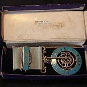 DORIC Free Masons Lodge Sterling Silver Jewel Hall Marked 1924