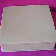 Old 1930's-40's Ivorine Hanky Box