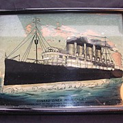SOLD Old picture of The Cunard Liner 'Mauritania'