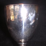 Small Sterling Silver Boxing Trophy