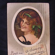Stunning Old 1911  Postcard 'A Saucy Eyed-Dear""