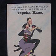1913 Bergman Card Topeka Kansas