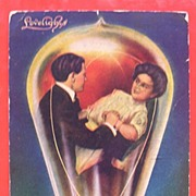 OLD 1910 Postcard 'Lovelights - Break Away'