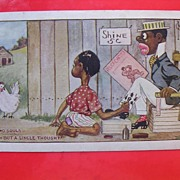 1916 BLACK AMERICANA Card 'Two Souls With A Single Thought'