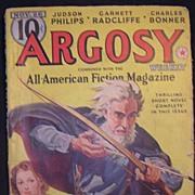 Sci-Fi Magazine - ARGOSY November 26 1938