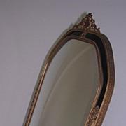 Refined Elegance  - French Napoleon III Standing Mirror