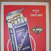 GALLAHER'S Medium Deluxe Cigarette Small Unmounted  Poster