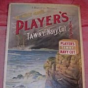 "PLAYERS ""Tawny"" Navy Cut Tobacco Mounted Display Poster"