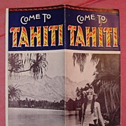 UNION Steamship Co Booklet on Tahiti 1928