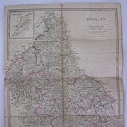 1831 MAP of The North of England - William  IV Period