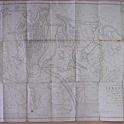 "1885 MAP ""Plan of The Defences of Sebastapol"""