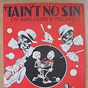 BLACK Americana Sheet Music 'Tain't No Sin'