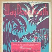 BLACK Americana Sheet Music ' Way Down South'