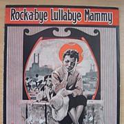 BLACK AMERICANA Sheet Music 'Rock-a-bye Lullabye Mammy'