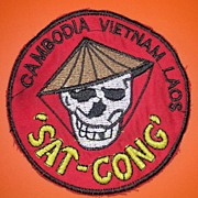 VIETNAM  US Special Forces SAT CONG Shoulder Patch